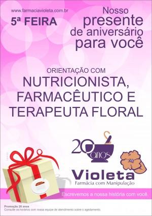 Cartazete Promocional Violeta 5FEIRA